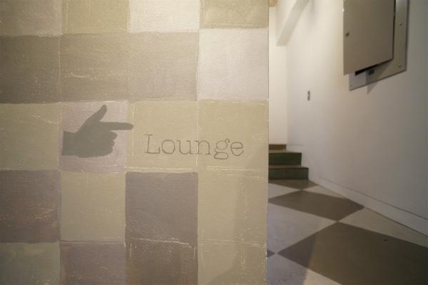 壁にはLoungeマークが。かわいい♪