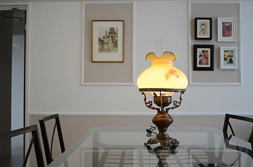 ランプが女性らしくかわいい。
