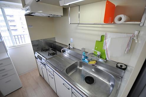 Ⅰ~Ⅵまで共通のシンプルなキッチンです。
