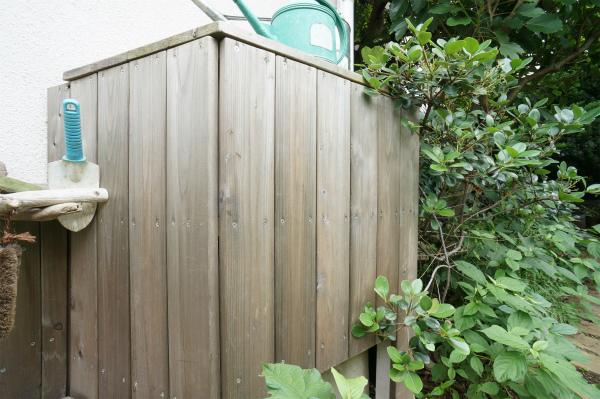 こちらは雨水のタンク。自然の恵みを極力利用する仕組みになっているようですね。