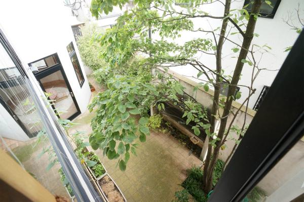 中庭には金木犀の木が。