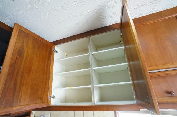 収納は、各お部屋毎に区切られています。