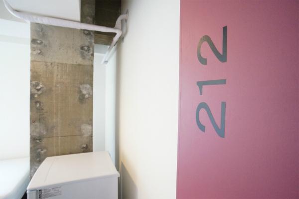 次は212号室のお部屋。お部屋は3部屋、4部屋毎のユニットになっています。
