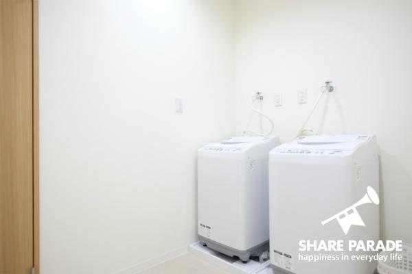 洗濯機が2台です。