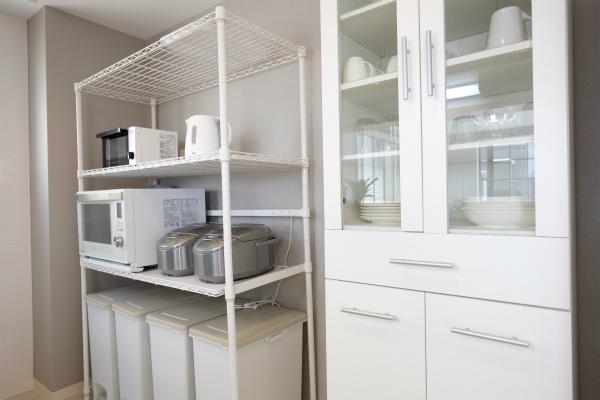 3Fにも家電・食器など一通りそろっています。