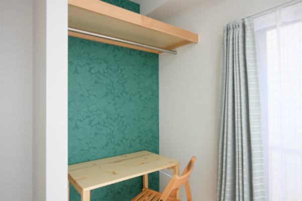 アクセントとなっている壁紙は、お部屋毎に異なっています。