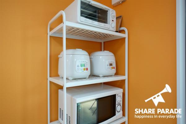 電子レンジ・炊飯器・トースターなどの家電もすべて新品です。