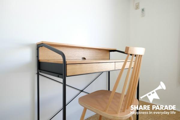 ナチュラルテイストの家具。