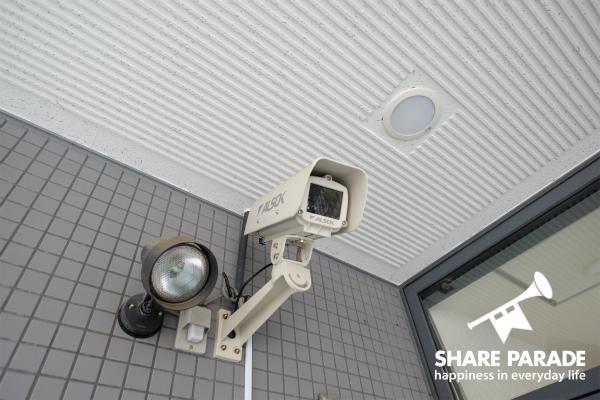 防犯カメラもあって、セキュリティ面も安心。