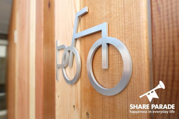 自転車のアイコンがかわいい。