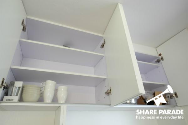 お部屋ごとのキッチン収納も用意されます。