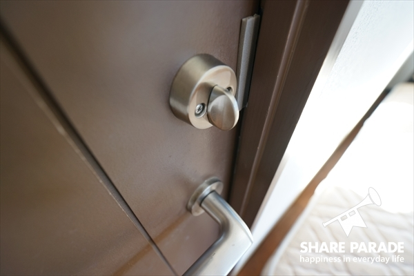 鍵が掛かります。