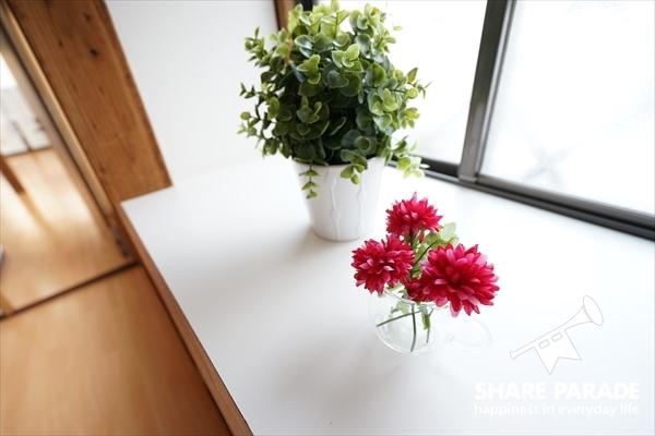 お花が飾られています。