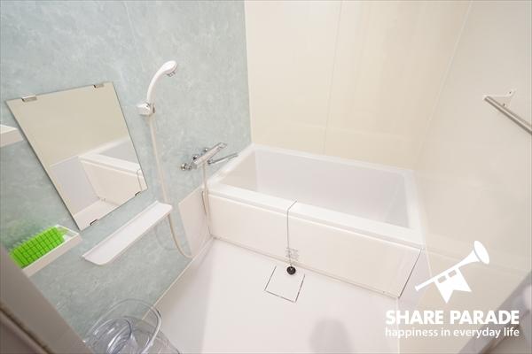 バスルームは5Fに。