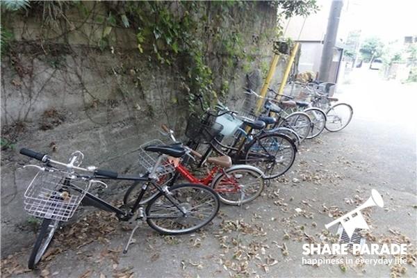 こちらは自転車置き場!