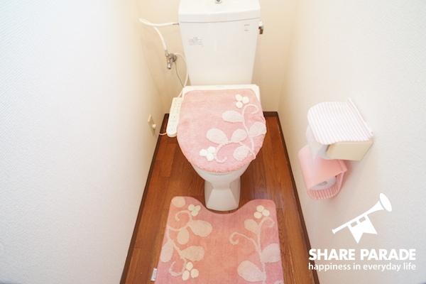 ピンクが可愛いトイレ♡