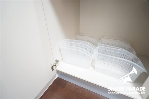 キッチン収納はお部屋毎に別けられています。