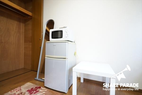 冷蔵庫・電子レンジも標準完備♪