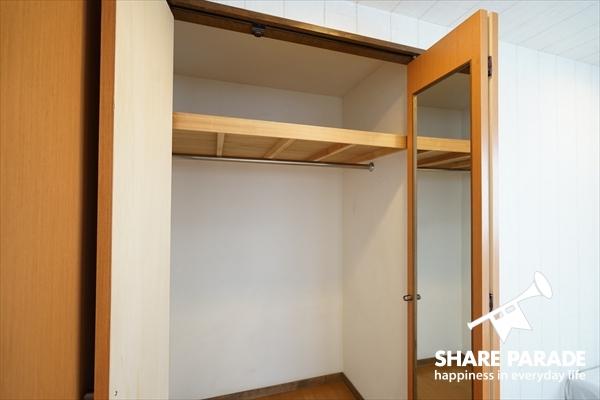 収納付のお部屋が多いですね。