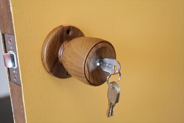 鍵は掛かります。