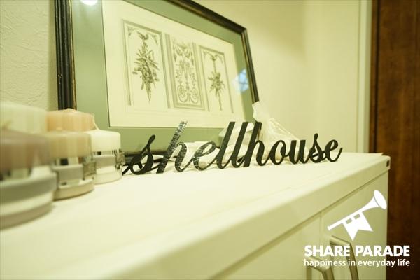 shellhouseのハウスプレートです。