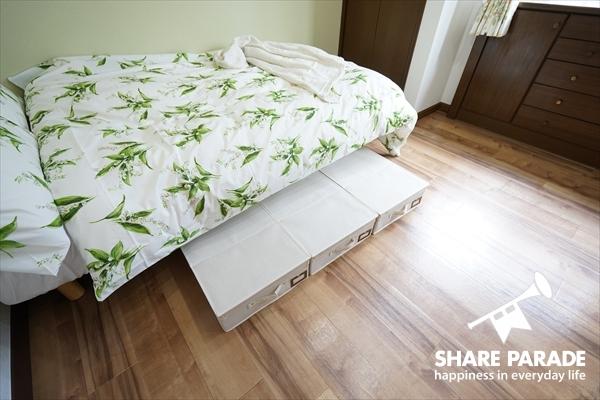 ベッド下収納もしっかりあります。