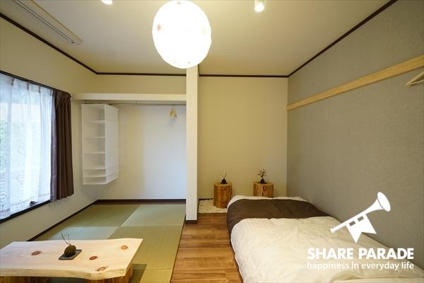 B号室は和室のモデルルームです。