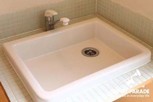 可愛い形の洗面台です。