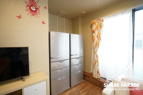 冷蔵庫は2台あります。