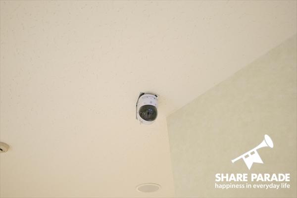 防犯カメラもあって、安心。