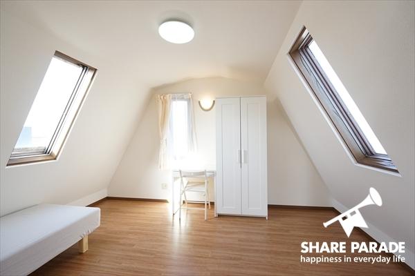 4階のお部屋。屋根裏部屋みたいでかわいい。