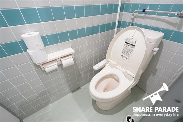トイレは男女別となっています。