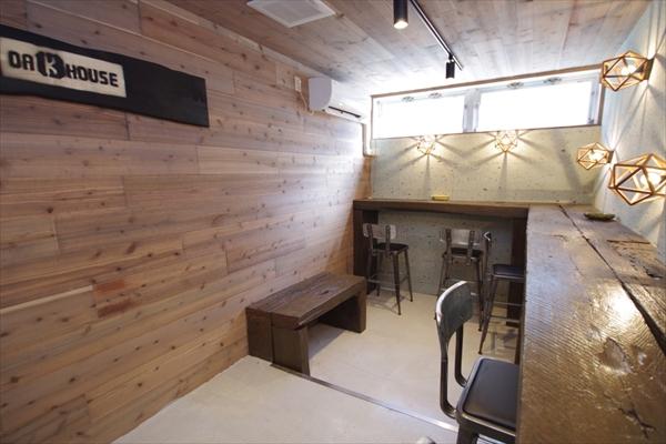 クールな空間はスモーキングルーム。