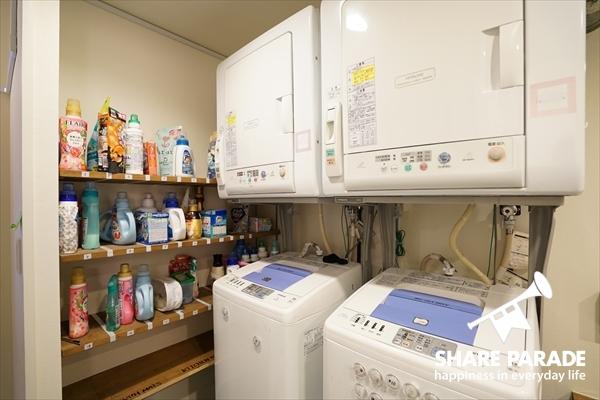 洗濯機・乾燥機が完備です。もちろん無料。