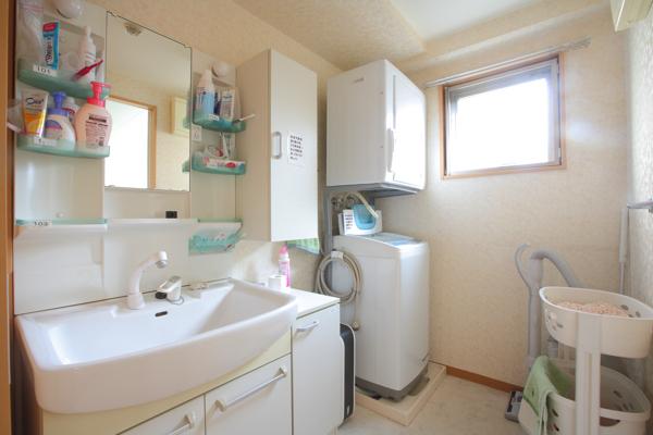 洗面台も大きなつくり。