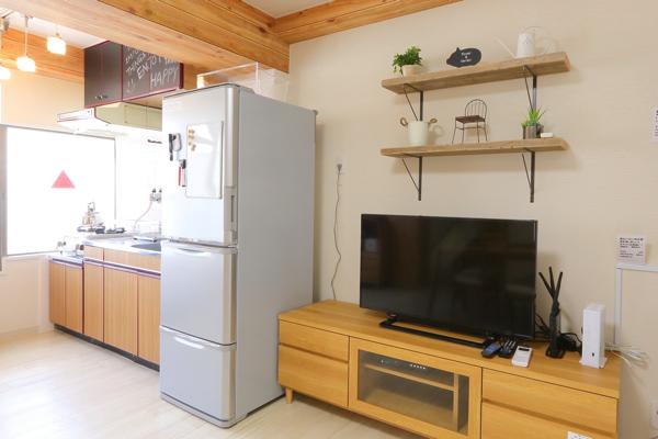 大容量冷蔵庫。