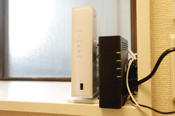 無線LANがあります。