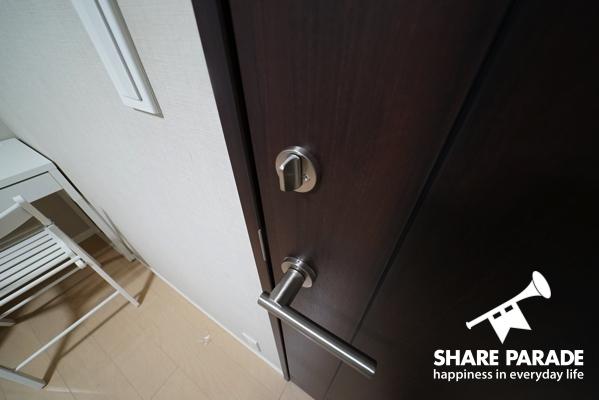 お部屋は鍵が閉まります。