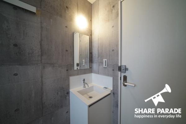 お部屋に洗面台があるので混み合う時間帯にも安心。