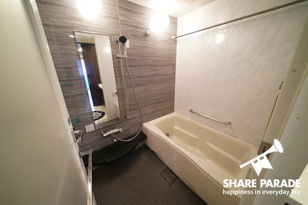 お風呂が広いのでリラックスできます。