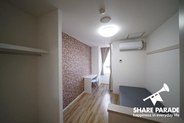 壁紙は部屋によって異なるのでお気に入りを見つけてください。