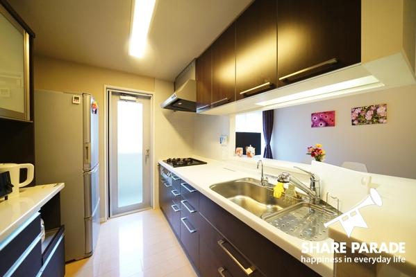 広くて使いやすいキッチン。