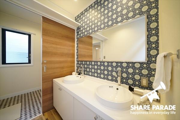3Fのかわいい洗面スペース。
