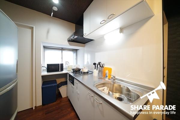 大きくて料理しやすいキッチンです。