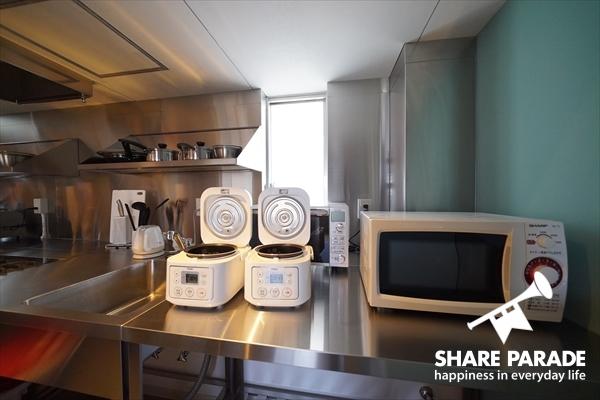 キッチン家電もたくさん。