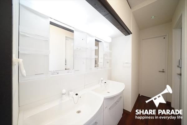 2階に2つの洗面があります。