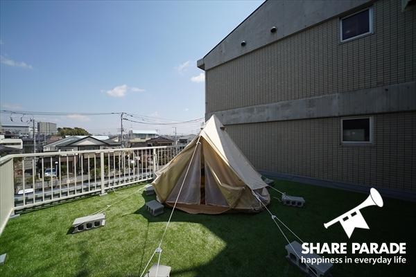 実は外にもテントが。