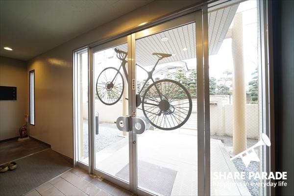 コンセプトとなっている自転車が。
