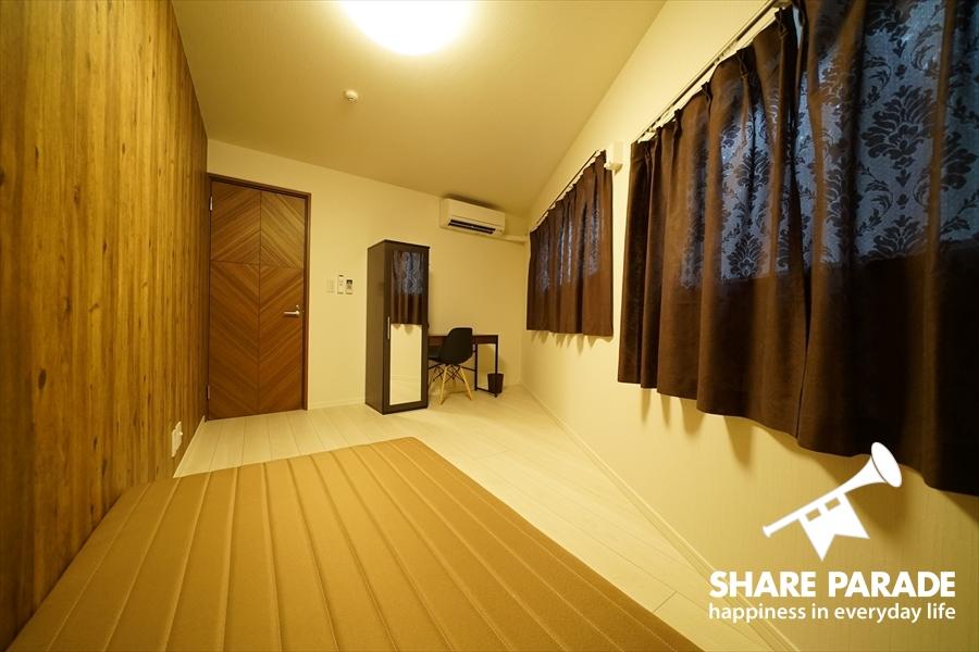 三角形の形をしたお部屋。