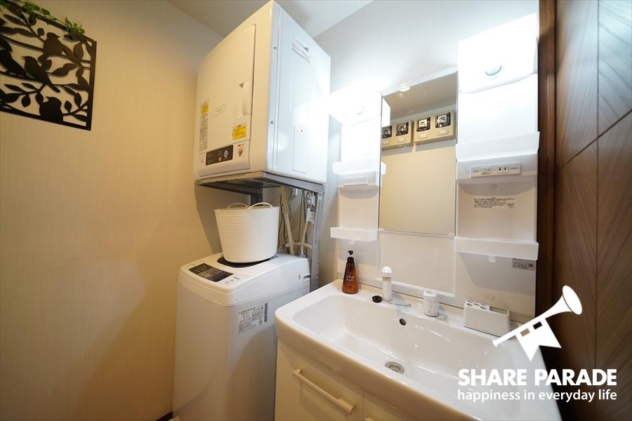 洗面・洗濯機・乾燥機です。